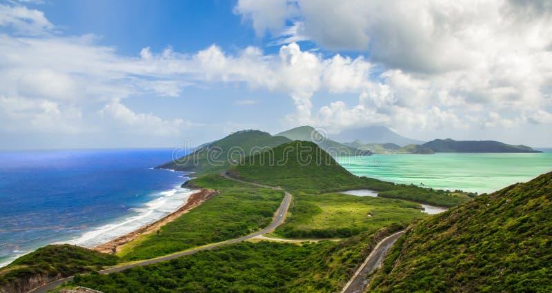 St Kitts et Niévès, la Caraïbe photos libres de droits