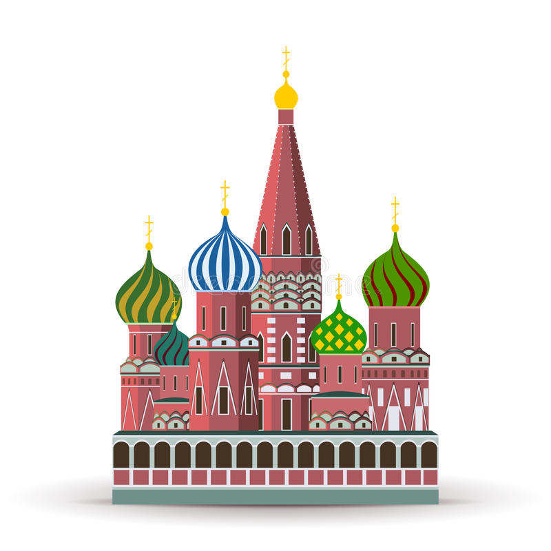 st kremlin собора базилика иллюстрация вектора