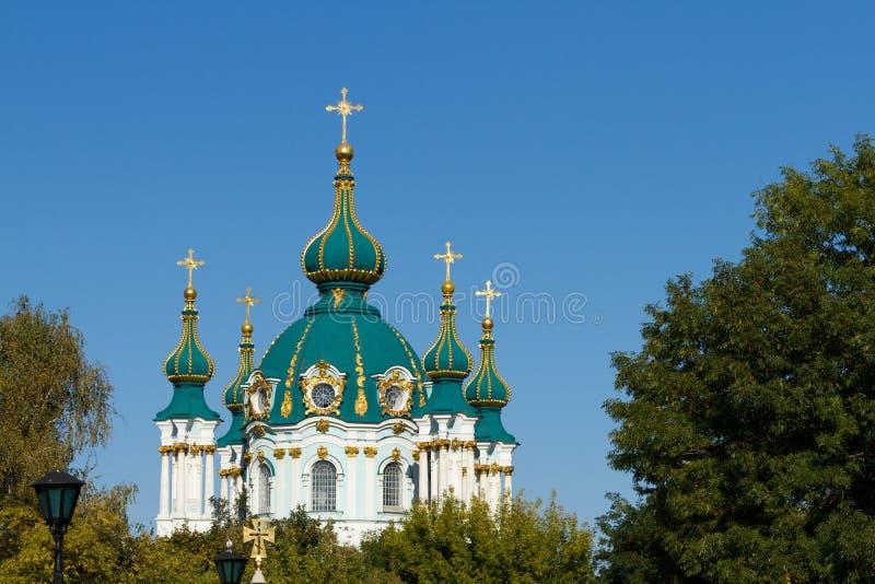 st kyiv s церков Андрюа стоковые изображения