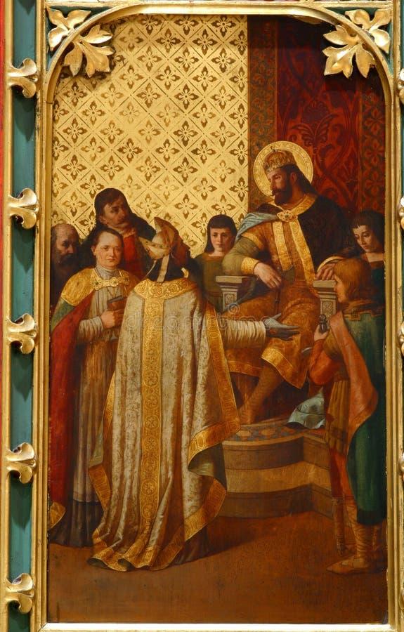 St. Ladislaus sendet den ersten Bischof von Zagreb lizenzfreie stockbilder