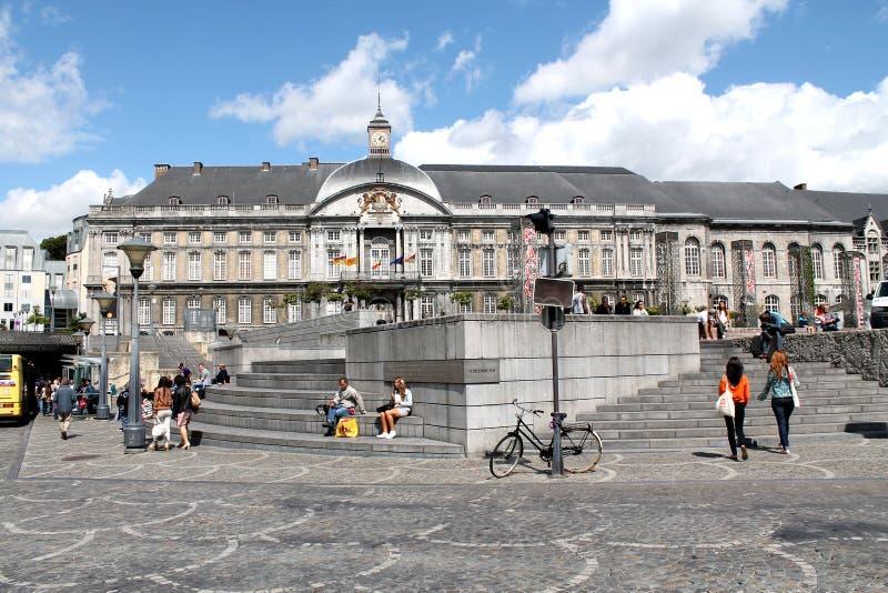 St Lambert Square Liege Belgium royaltyfri bild