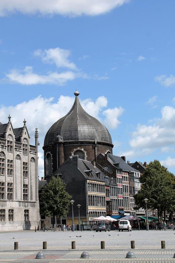 St. Lambert Square Liege Belgium royalty free stock photo