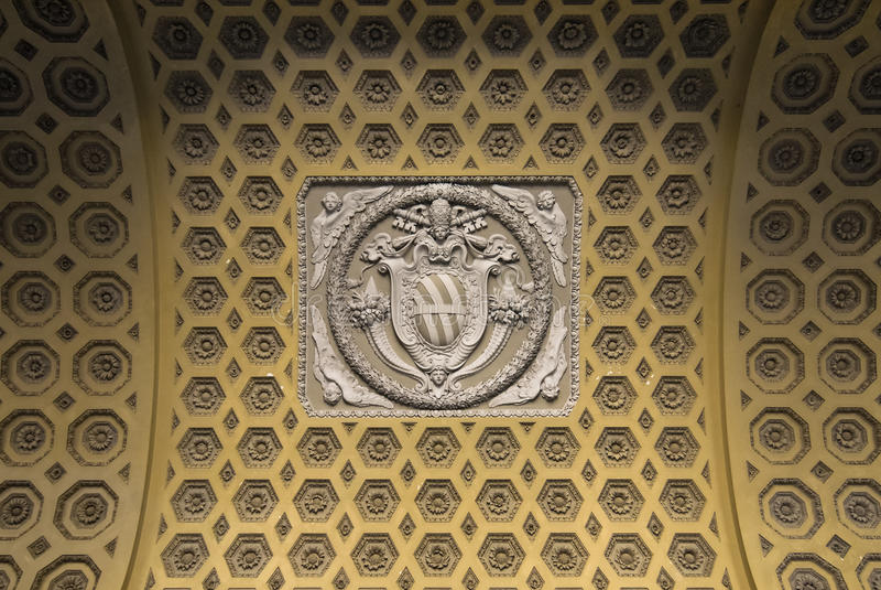 st lateran john украшения базилики стоковые изображения rf