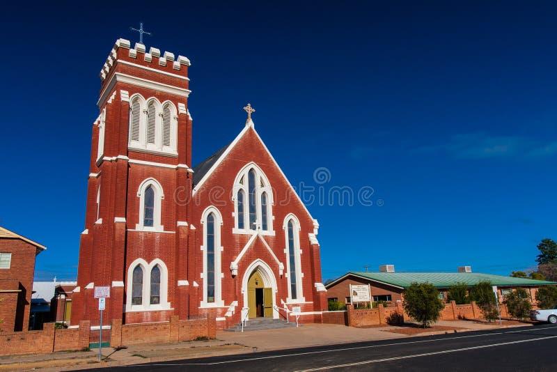 St Laurence O 'Toole Catholic Church, Cobar, Novo Gales do Sul, Austrália fotos de stock