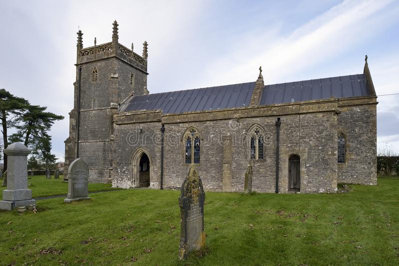 St Laurence Church. St Laurence Parish Church, Priddy, Somerset 13th Century grade I listed royalty free stock photography