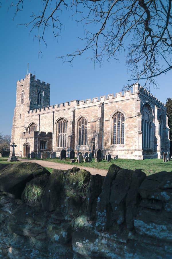 St Lawrance kościół grodzki Willington obrazy stock