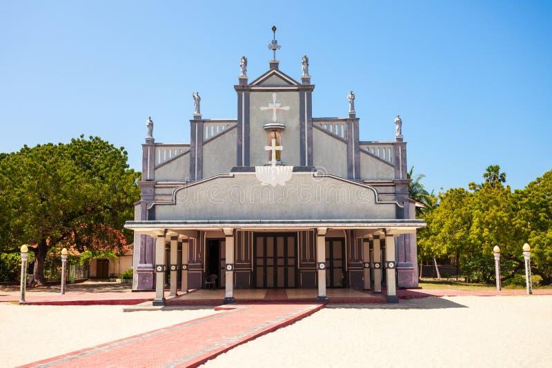 St Lawrance kościół, Talaimannar zdjęcie royalty free