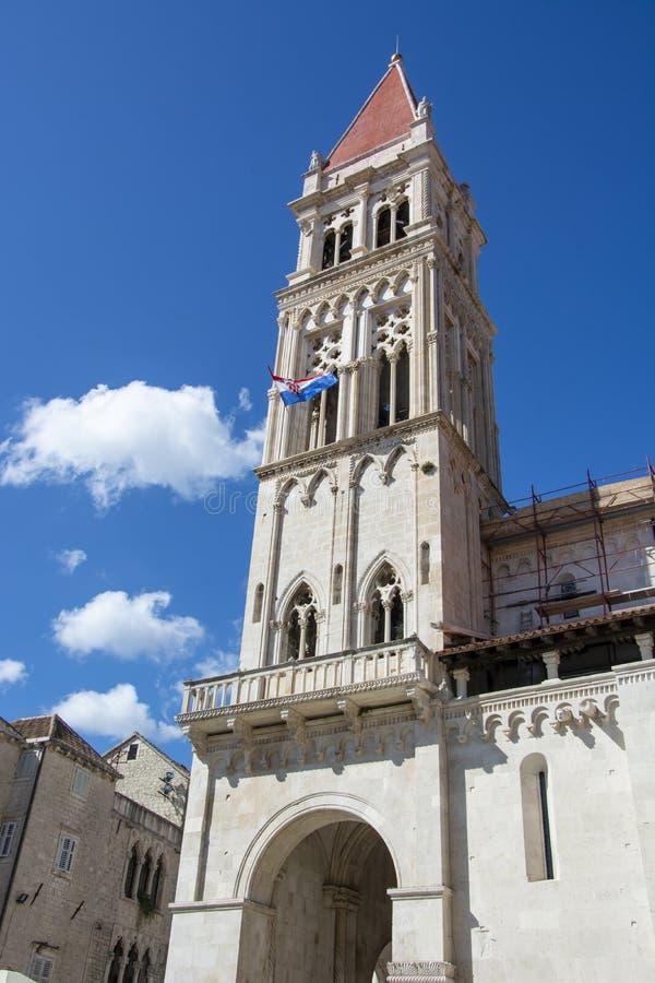 St. Lawrence Cathedral in Trogir, Kroatien stockbilder