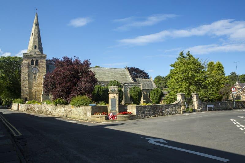 St Lawrence Church, Warkworth, Northumberland immagini stock libere da diritti