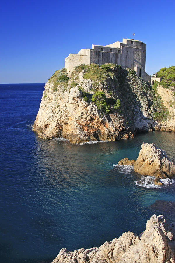 St. Lawrence Fortress, Dubrovnik imagens de stock