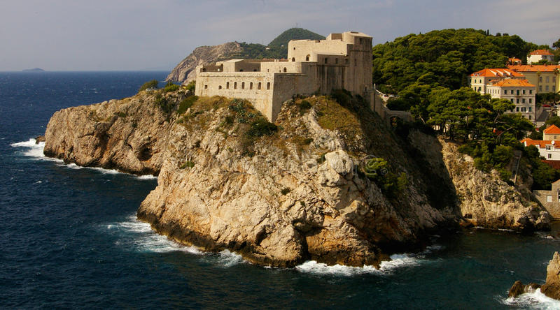 St Lawrence Fortress, Dubrovnik fotografia de stock