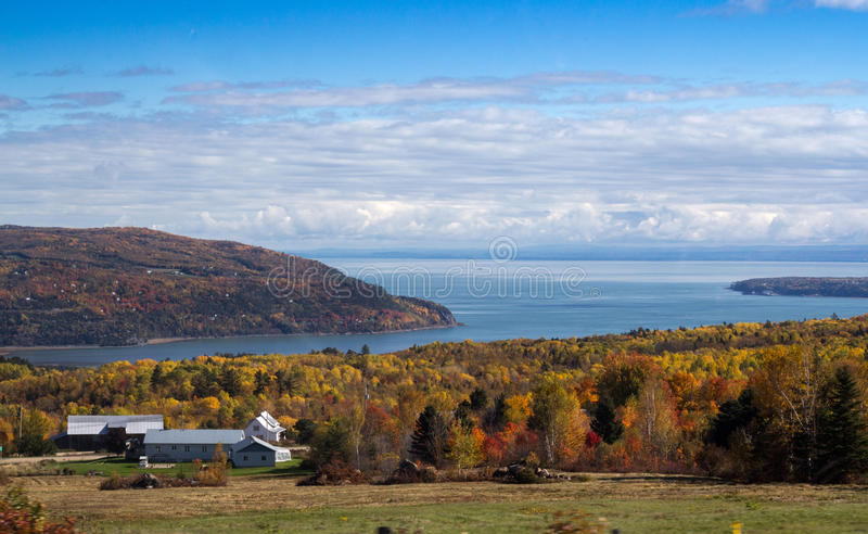 St.Lawrence river coast, North Quebec, Canada. North Quebec, Canada landscape stock photography