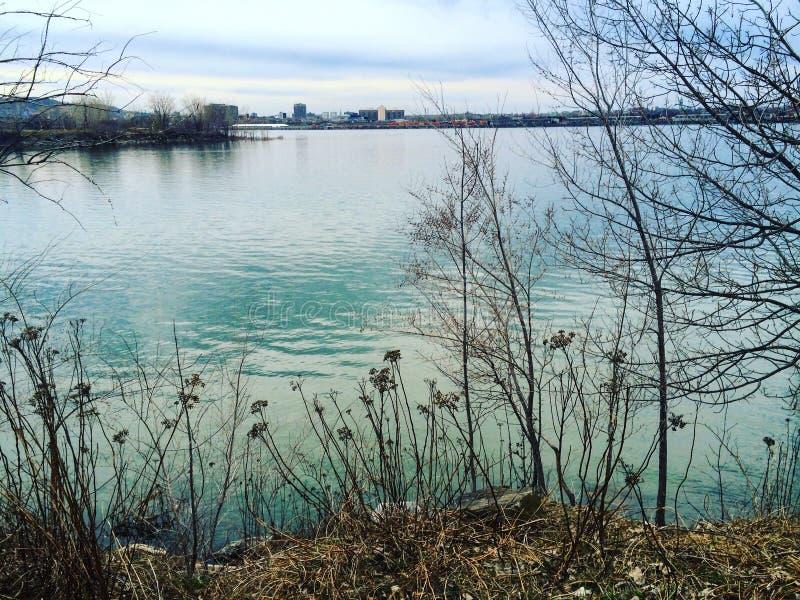 St Lawrence River i Quebec royaltyfri fotografi