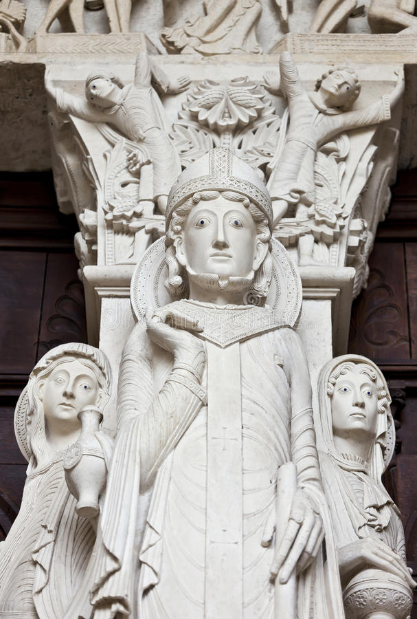 Download St-Lazare Detail Of Last Judgment Portal Stock Image - Image: 24827501