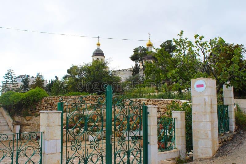 St. Lazarus Church, das Grab von Lazarus, gelegen in der Westjordanlandstadt des Als-Eizariya, Bethany, nahe Jerusalem stockbild