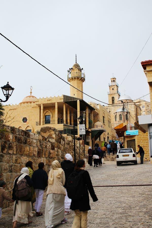 St. Lazarus Church, das Grab von Lazarus, gelegen in der Westjordanlandstadt des Als-Eizariya, Bethany, nahe Jerusalem stockfotos