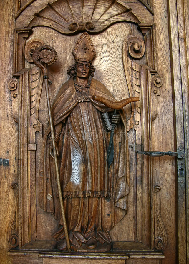 St Leger bishop in Lucerne royalty free stock photo