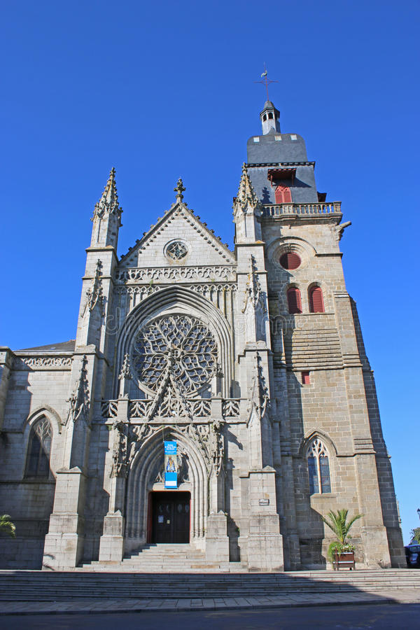 St Leonard Church, Fougeres foto de stock royalty free
