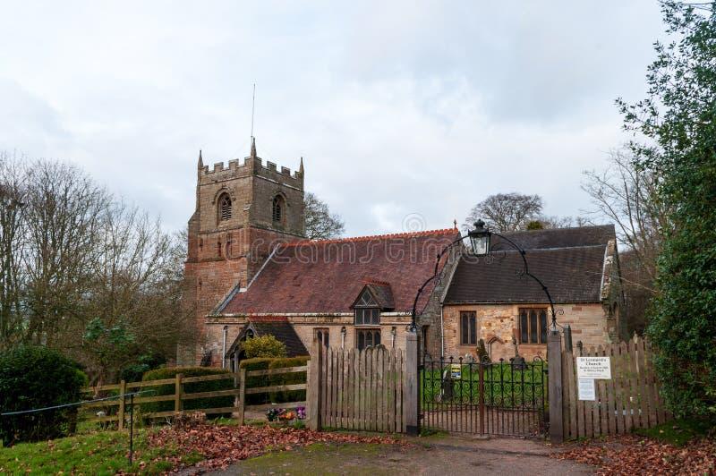 St Leonard Kerk, Beoley stock foto