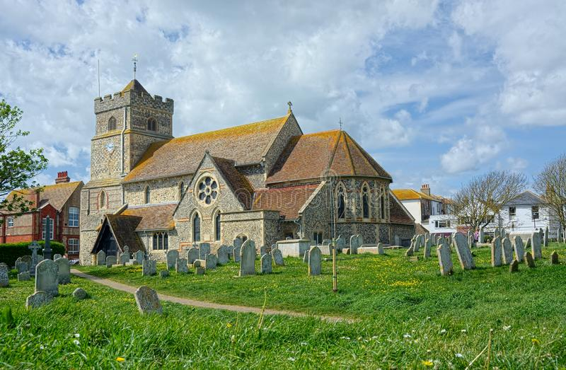 St Leonard`s Church, Seaford, Sussex stock images