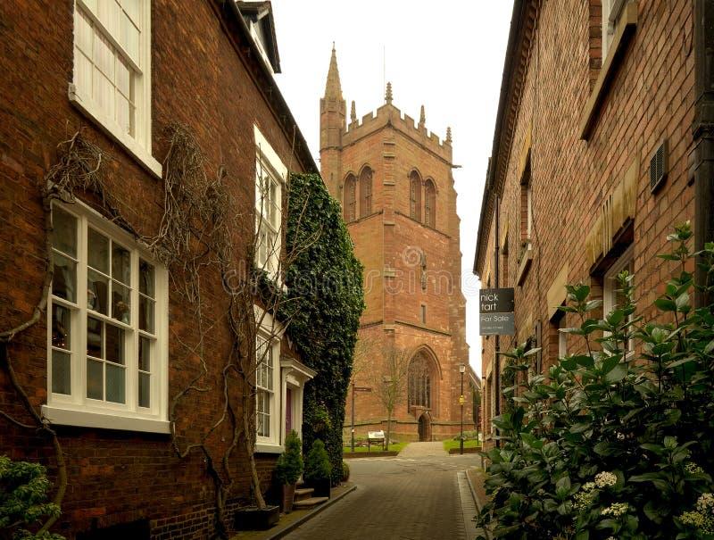St Leonards Church, Bridgenorth, Shropshire stock images