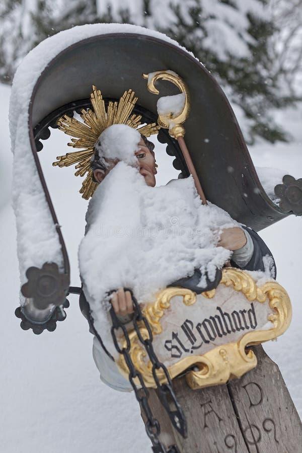 St Leonhard en invierno fotos de archivo libres de regalías