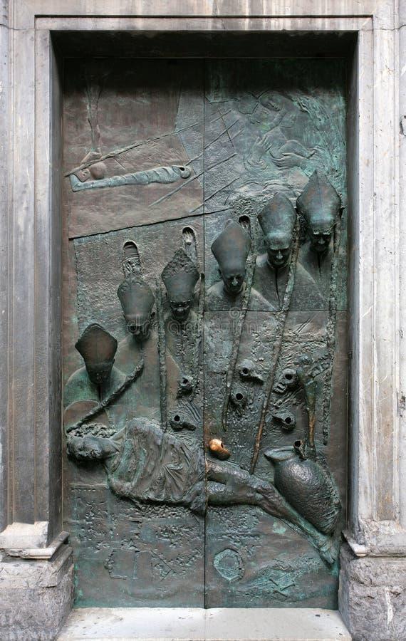 st ljubljana nicolas двери церков стоковая фотография rf