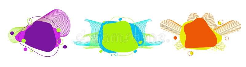 St?ll in av abstrakta moderna grafiska best?ndsdelar vektor illustrationer