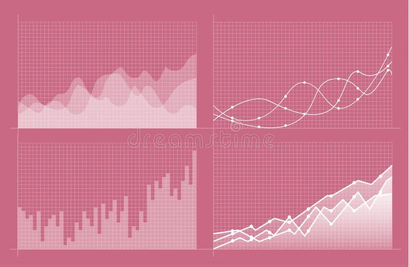 St?ll in av olika grafer och diagram Infographics stock illustrationer