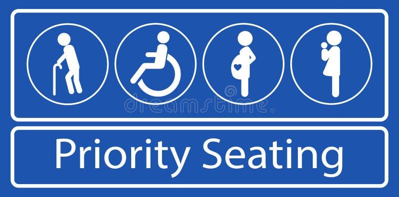 St?ll in av prioritetsplaceringklisterm?rke, eller etiketten, f?r samlas snabb transport eller annat offentligt trans. royaltyfri illustrationer