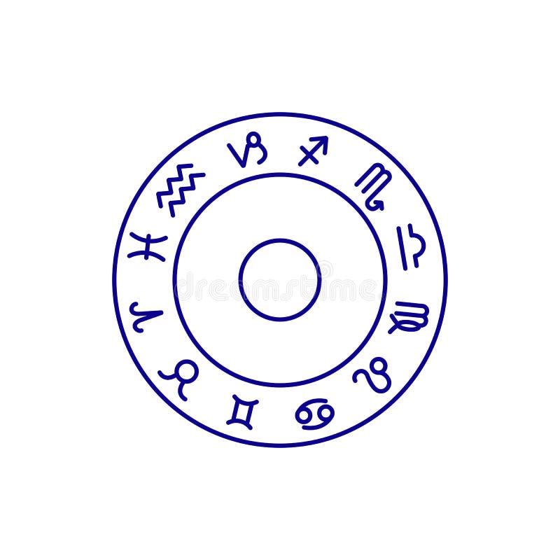 St?ll in av zodiakteckensymboler horoskopet vektor illustrationer