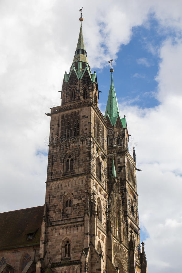 Church in Nuremberg stock images