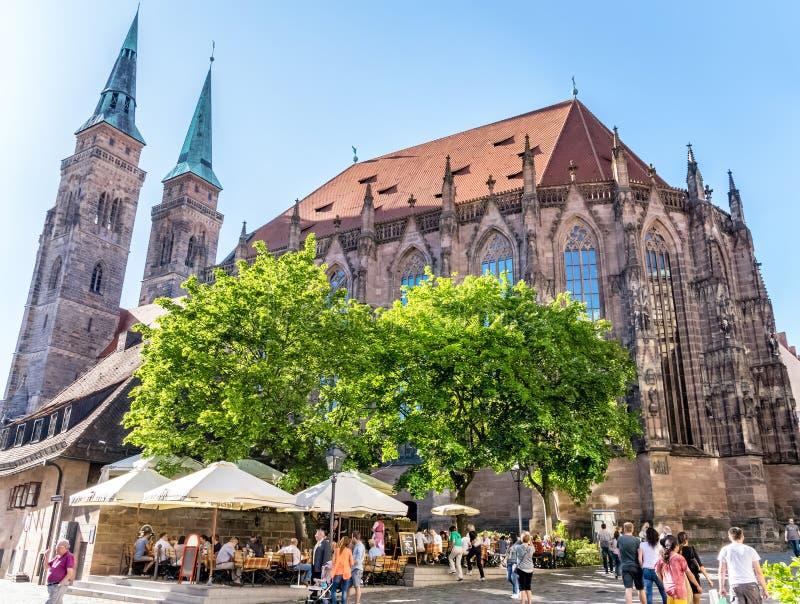 St Lorenz kościół w Nuremberg zdjęcie royalty free