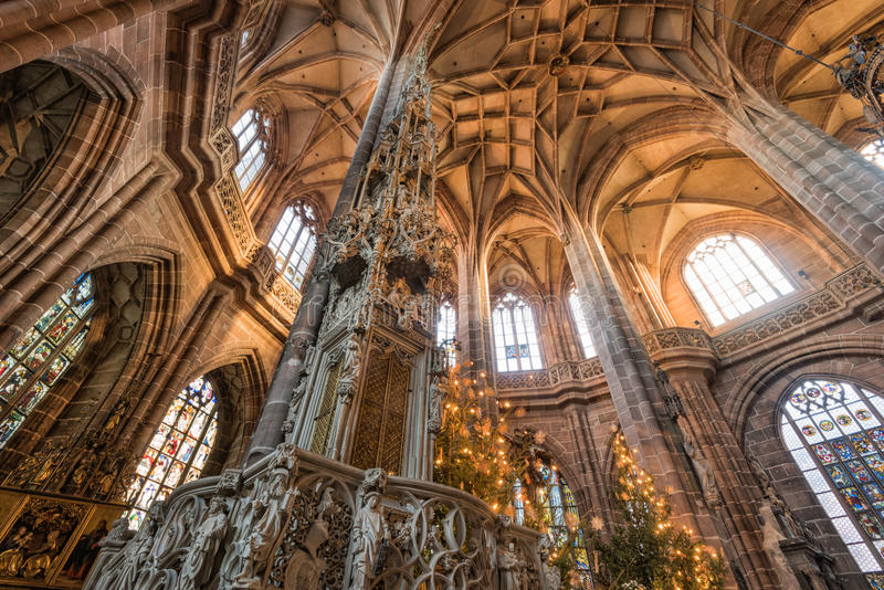 St Lorenz kościół w Nuremberg, Niemcy obraz royalty free