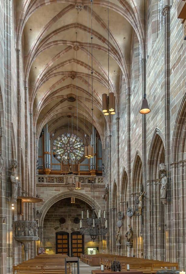 St Lorenz, Nuremberg, Alemania imagenes de archivo