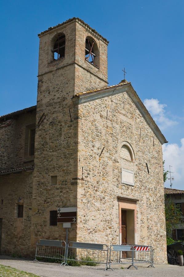 St. Lorenzo Church. Torrechiara. Emilia-Romagna. Italy. St. Lorenzo Church of Torrechiara. Emilia-Romagna. Italy royalty free stock images