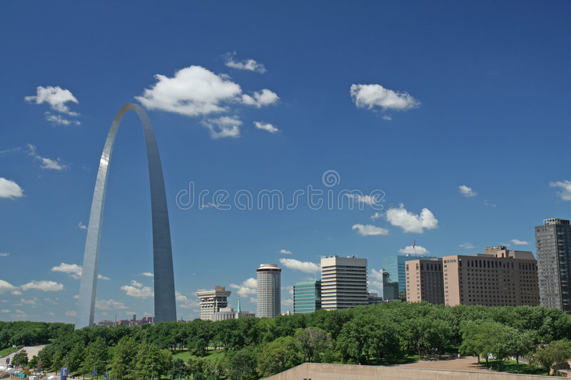 St Louis. City of St Louis with Gateway Arch royalty free stock photography