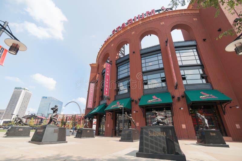 St Louis arkitektur, basebollarenaby Missouri, USA arkivfoton
