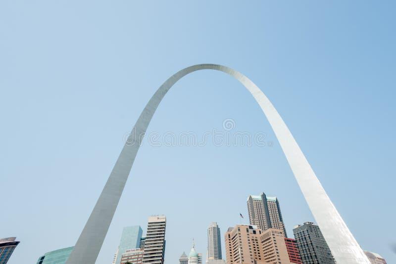 St Louis, arkitektur och berömd båge, Missouri, USA fotografering för bildbyråer