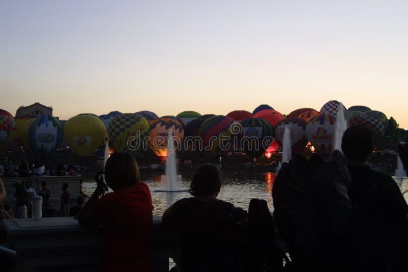 St Louis Balloon Race Ballloon Glow 2018 fotos de archivo libres de regalías