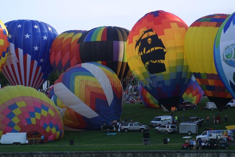 St Louis Balloon Race Ballloon Glow 2018 royaltyfri fotografi