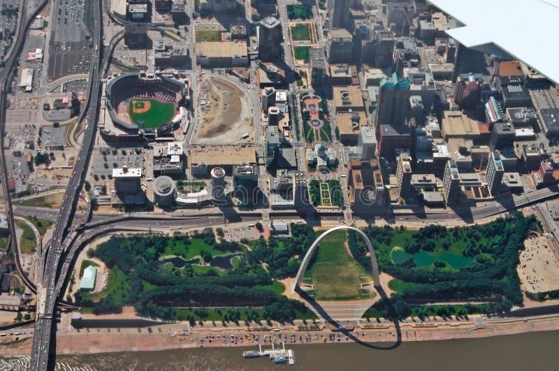 St. Louis céntrica foto de archivo libre de regalías