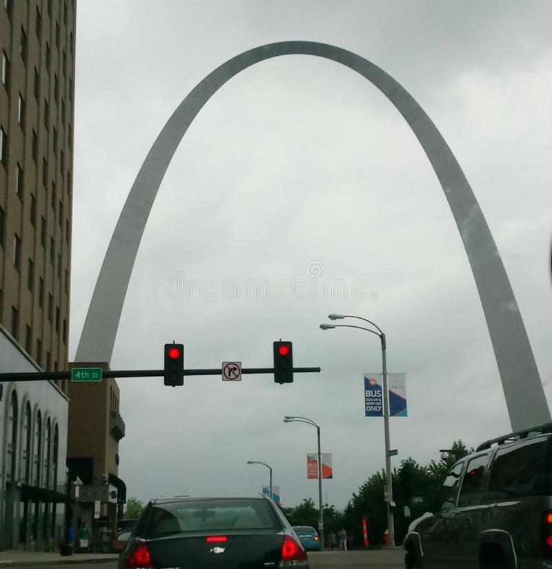 St Louis céntrica foto de archivo libre de regalías