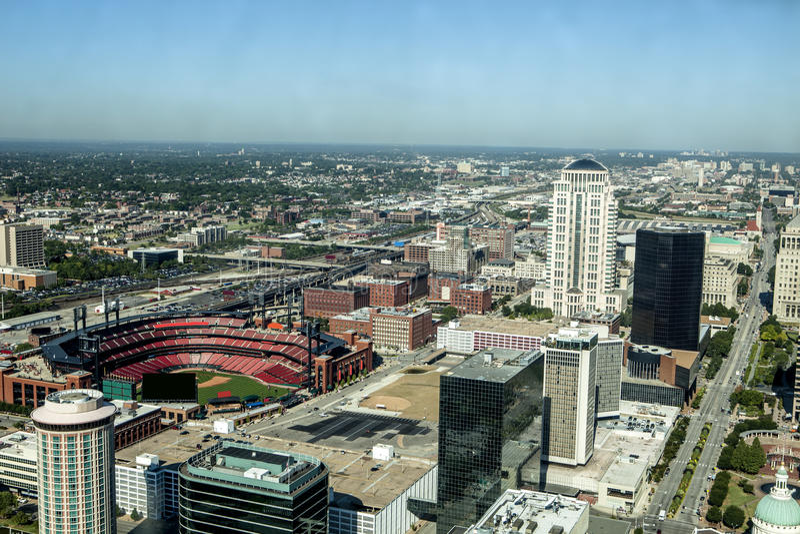 St. Louis céntrico imagen de archivo