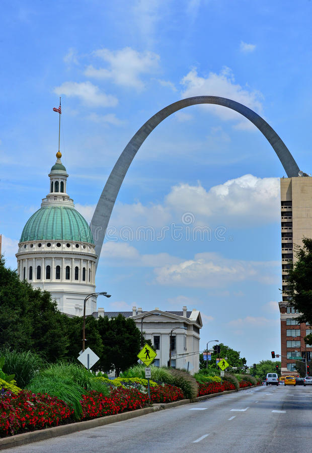 St. Louis céntrico, Missouri imagen de archivo libre de regalías