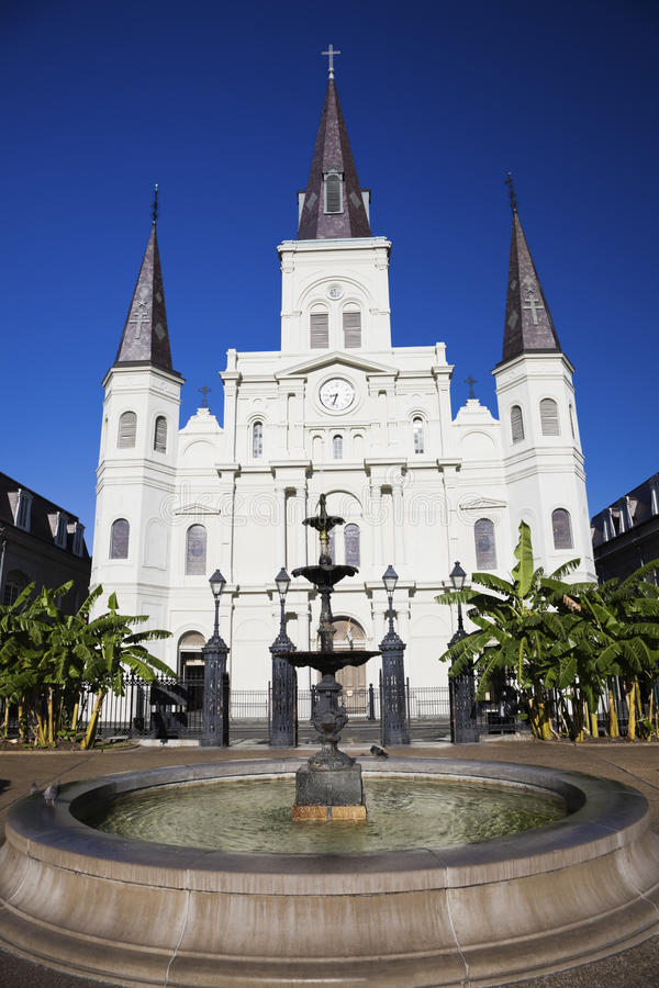 Download St. Louis Cathedral stock photo. Image of fountain, park - 17364270