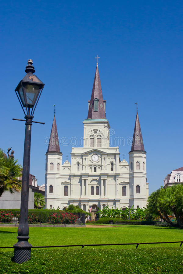 St Louis Cathedral. Jackson Square and Saint Louis Cathedral, New Orleans stock photos