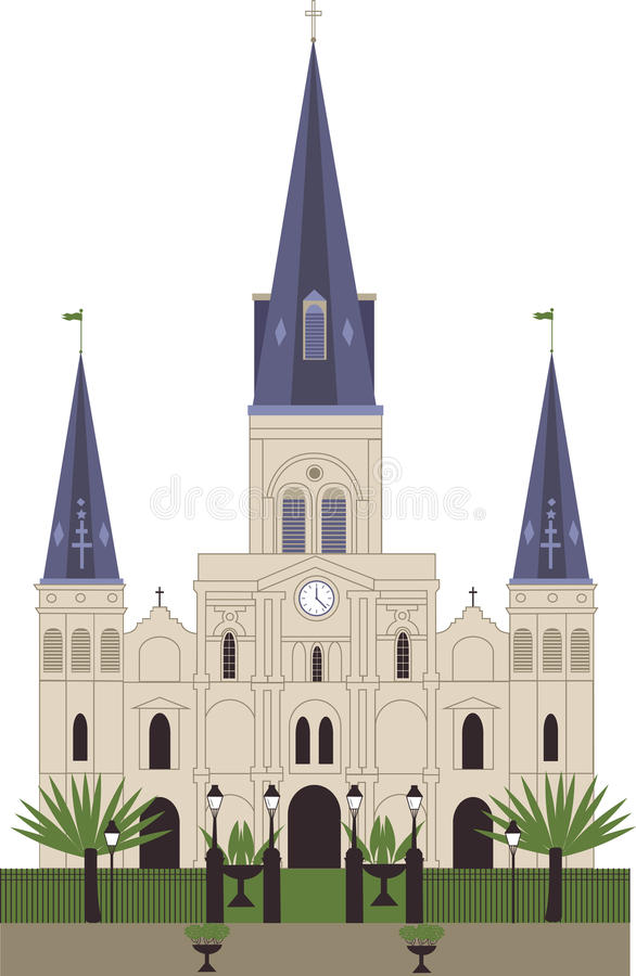 St Louis Cathedral illustrazione vettoriale