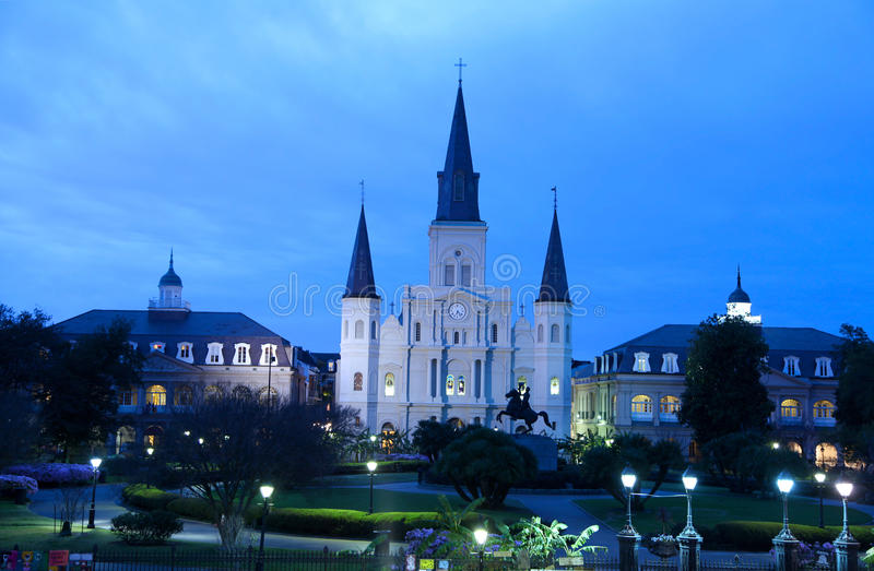 St Louis Cathedral stock foto's