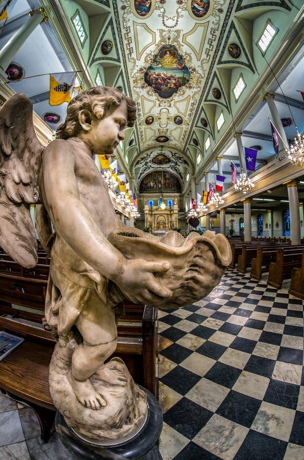 St Louis Cathedral Angel 1 LA de New Orleans fotografía de archivo libre de regalías